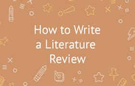 How to Write a Literature Review - Paper Masters